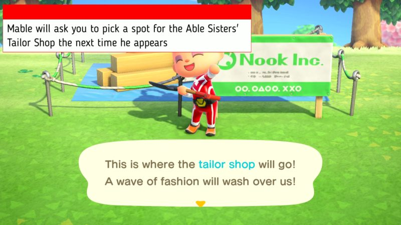 how to get the able sisters tailor shop