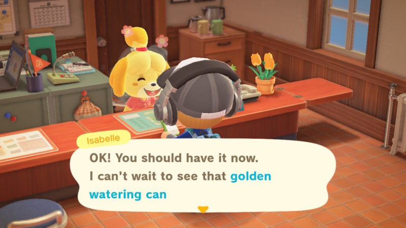 acnh how to get golden watering can