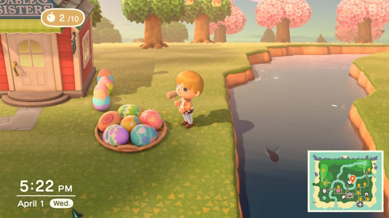 animal crossing new horizons bunny day eggs guide