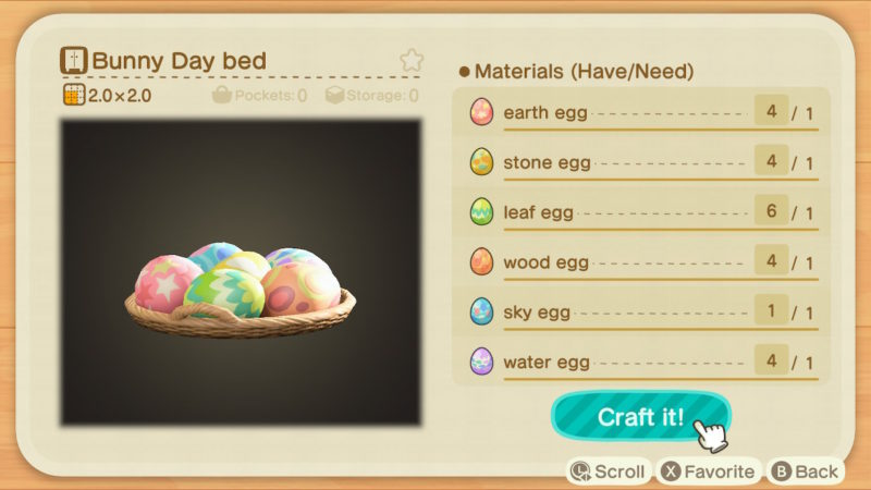 animal crossing new horizons - how many eggs you need