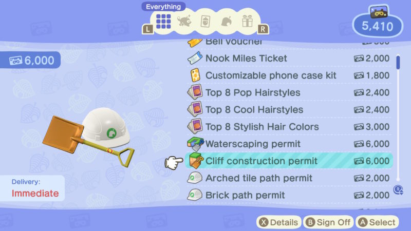 animal crossing new horizons how to change the shape of cliff and lake