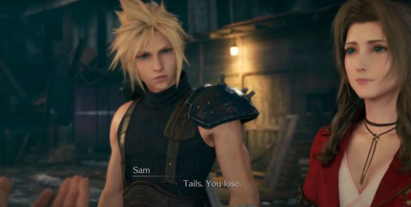 coin toss chocobo sam - ff7 remake choices