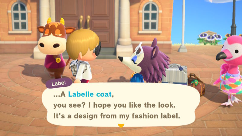 label - match fashion theme - animal crossing new horizons