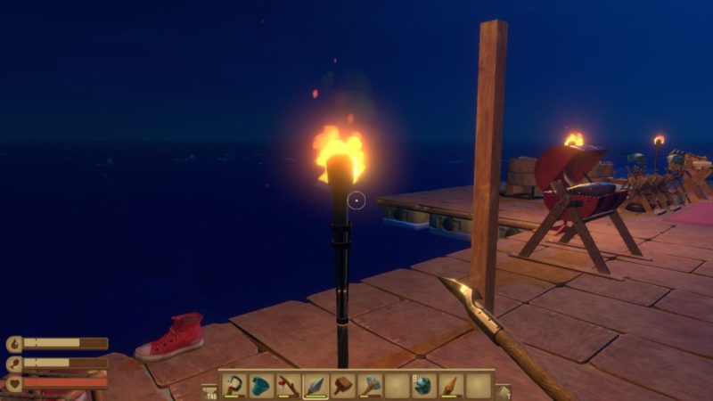 raft - how to brighten the raft during nighttime