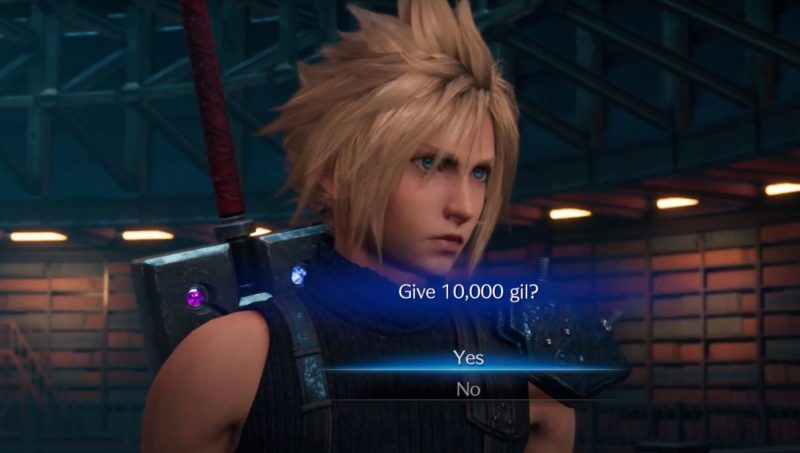 should you give 10000 gil to hart - ff7 remake