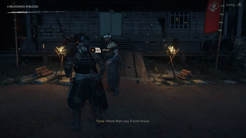 ghost of tsushima - a reckoning in blood quest