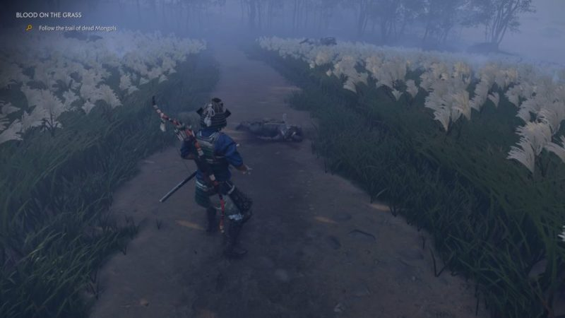 ghost of tsushima - blood on the grass quest