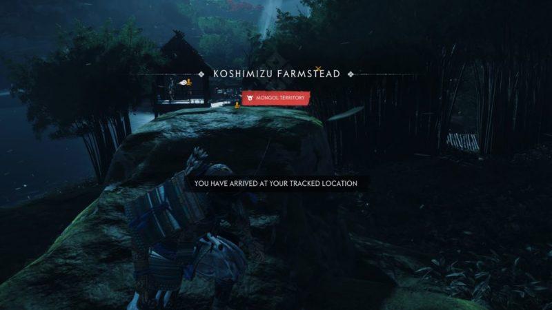 ghost of tsushima - koshimizu farmstead guide