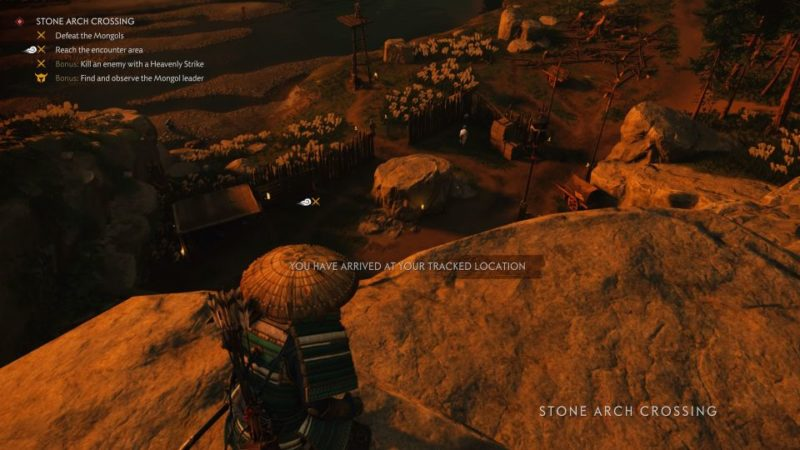 ghost of tsushima - stone arch crossing guide