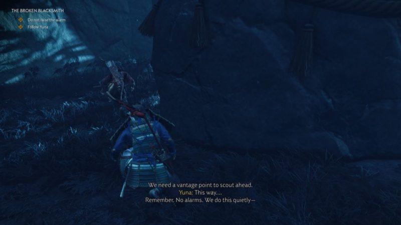 ghost of tsushima - the broken blacksmith mission