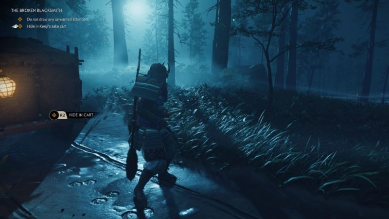 ghost of tsushima - the broken blacksmith quest guide