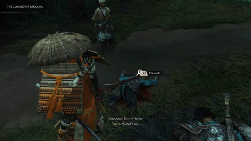 ghost of tsushima - the coward of yarikawa quest