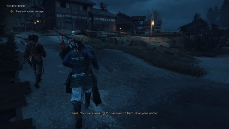 ghost of tsushima - the iron hook quest