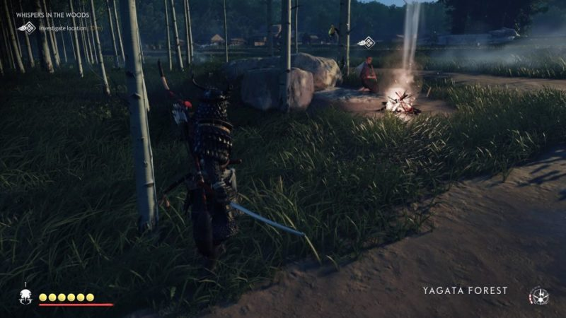 ghost of tsushima - whispers in the woods guide