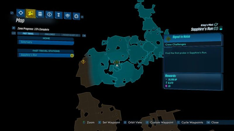 borderlands 3- signal to noise sapphire's run guide