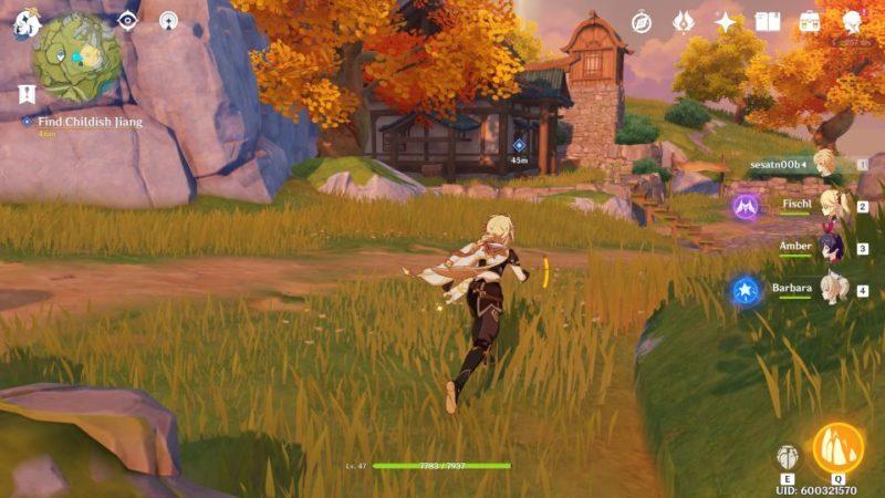 genshin impact - a little game hiding spot