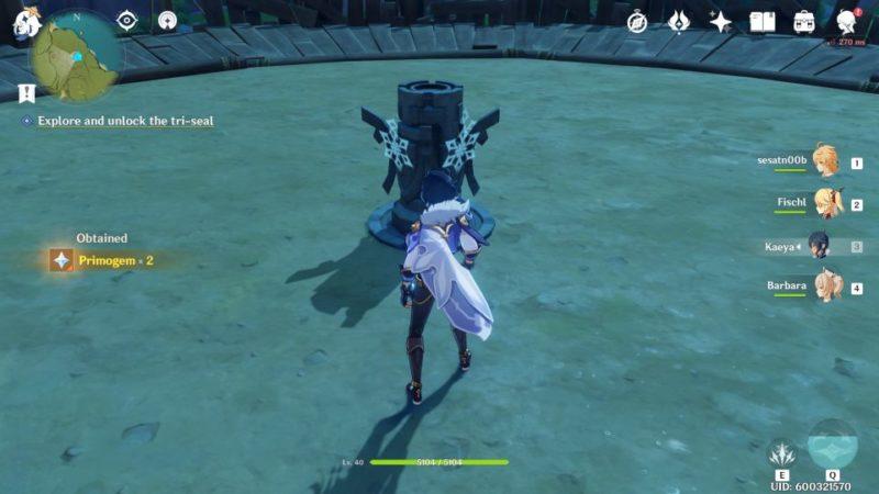 genshin impact - break the sword cemetery seal puzzle guide