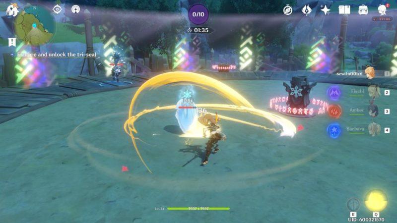 genshin impact - break the sword cemetery seal walkthrough