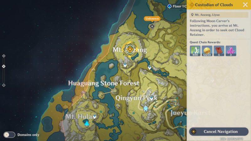 genshin impact - custodian of clouds guide