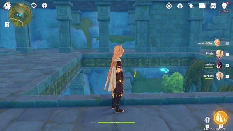 genshin impact - dunyu ruins wisp disappear