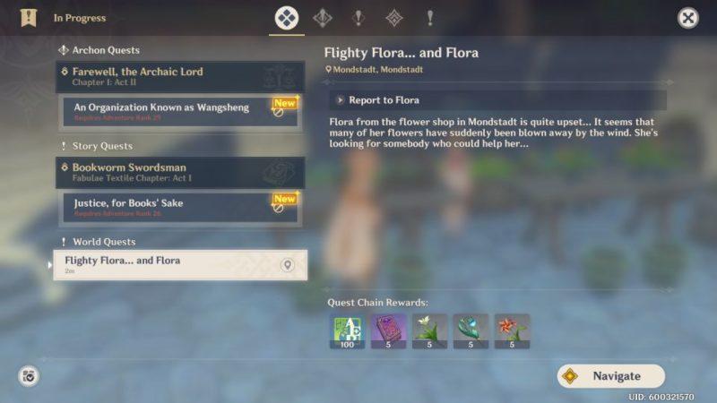 genshin impact - flighty flora and flora guide