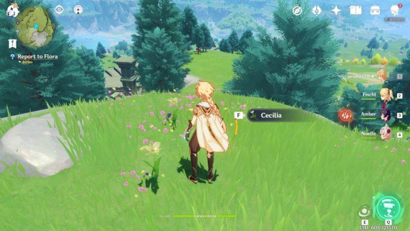 genshin impact - flighty flora and flora quest