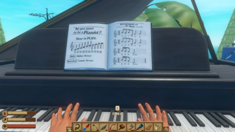 how to get piano in raft